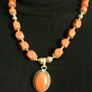 Beautiful Beige Brown beaded necklace